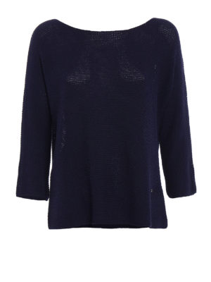 Fay: boat necks - Blue viscose blend over sweater