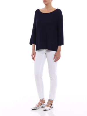 Fay: boat necks online - Blue viscose blend over sweater