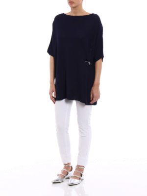 Fay: boat necks online - Iconic hook detailed oversized top