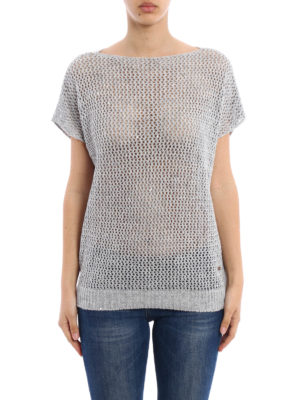 Fay: boat necks online - Linen and cotton blend sweater