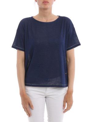 Fay: boat necks online - Silk jersey boxy T-shirt