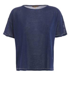 Fay: boat necks - Silk jersey boxy T-shirt