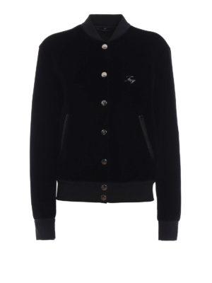 FAY: giacche bomber - Bomber nero con logo
