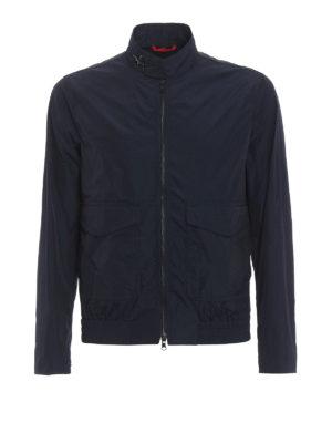 Fay: bombers - Matte techno fabric bomber jacket