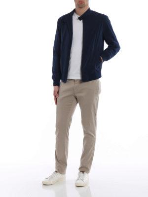 Fay: bombers online - Techno taffeta blue bomber jacket
