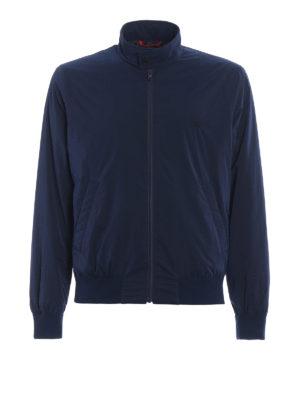 Fay: bombers - Techno taffeta blue bomber jacket