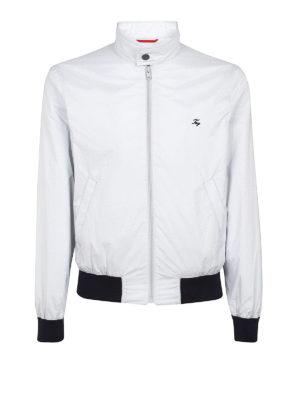 Fay: bombers - Techno taffeta white bomber jacket