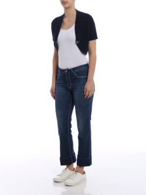 Fay: bootcut jeans online - Maxi turn-up crop jeans