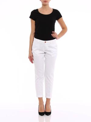 Fay: capris online - Polka dot capri trousers