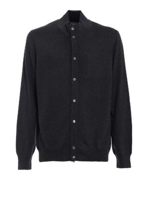 Fay: cardigans - Buttoned knitted wool cardigan