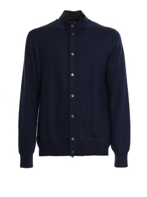 Fay: cardigans - Double front wool cardigan