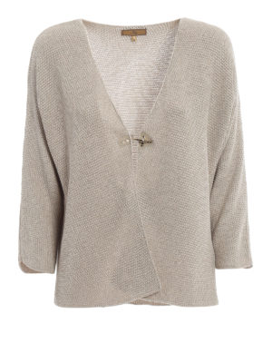 Fay: cardigans - Fay hook knitted viscose cardigan
