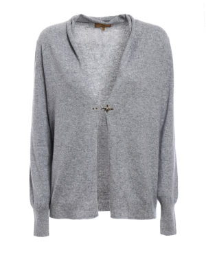 Fay: cardigans - Hook detail wool blend cardigan