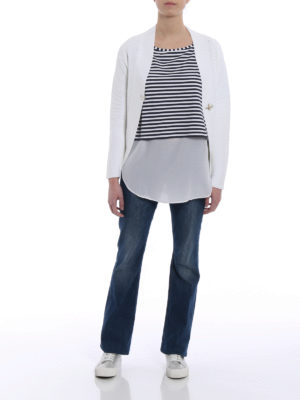 Fay: cardigans online - Fay hook knitted cotton cardigan