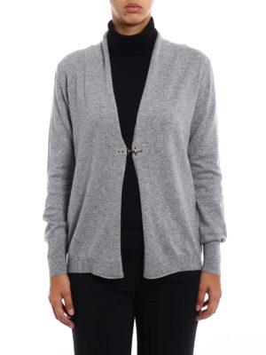 Fay: cardigans online - Hook detail wool blend cardigan