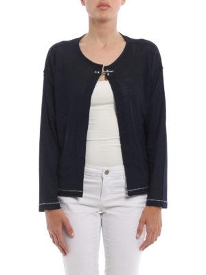 Fay: cardigans online - Silk jersey crop cardigan