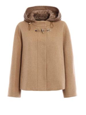 Fay: casual jackets - Beige wool cloth flared jacket