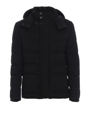 FAY: giacche casual - Piumino in tessuto tecnico stretch nero