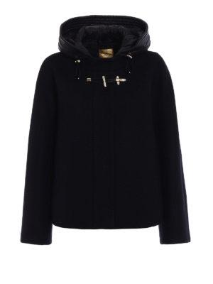 Fay: casual jackets - Black wool cloth flared jacket