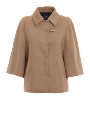 FAY: giacche casual - Giacca stile mantella in misto lana cammello