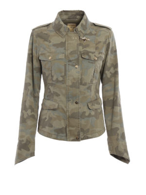 Fay: casual jackets - Camouflage cotton field jacket
