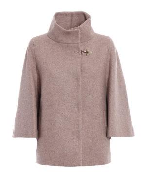 Fay: casual jackets - Cape style melange wool jacket