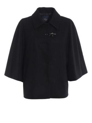 FAY: giacche casual - Giacca stile mantella in lana e cashmere