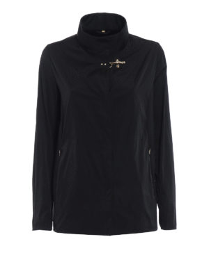 Fay: casual jackets - City Spring ultralight black jacket