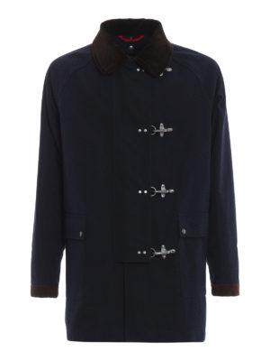 FAY: giacche casual - Giaccone montgomery 4 ganci collo velluto