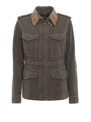 Fay: casual jackets - Cotton canvas field jacket