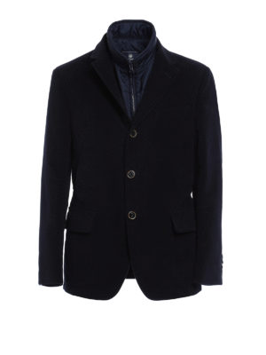 Fay: casual jackets - Detachable vest detailed jacket