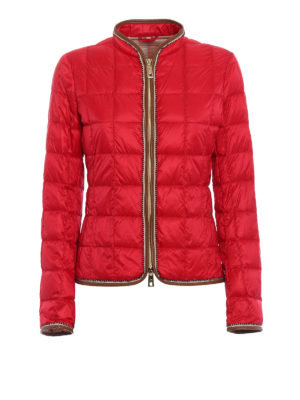 Fay: casual jackets - Faux leather trims red jacket