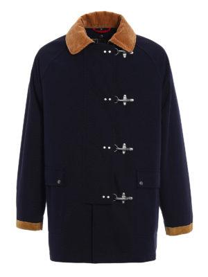 Fay: casual jackets - Four hooks duffle jacket