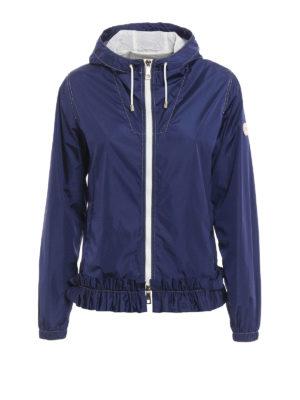 Fay: casual jackets - Frilled hooded nylon jacket