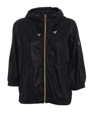 Fay: casual jackets - Kimono sleeve black windbreaker
