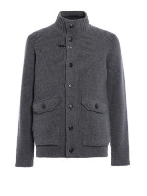 Fay: casual jackets - Knitted wool jacket with inner vest