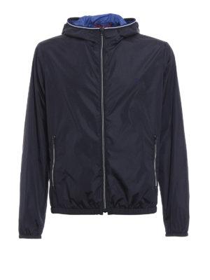 Fay: casual jackets - Light nylon hooded jacket