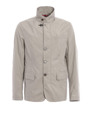 Fay: casual jackets - Lightweight beige field jacket
