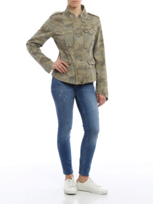 Fay: casual jackets online - Camouflage cotton field jacket