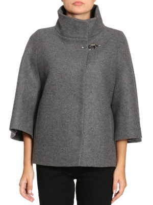 Fay: casual jackets online - Cape style grey wool blend jacket