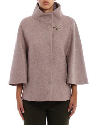 Fay: casual jackets online - Cape style melange wool jacket