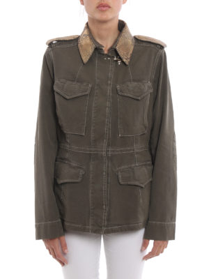 Fay: casual jackets online - Cotton canvas field jacket