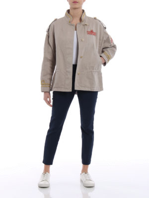 Fay: casual jackets online - Cotton canvas safari jackets