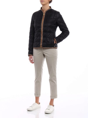 Fay: casual jackets online - Faux leather trims blue jacket