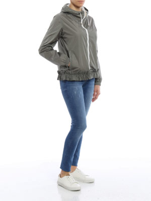 Fay: casual jackets online - Frilled hooded nylon jacket