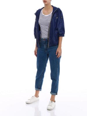 Fay: casual jackets online - Hooded kimono sleeve windbreaker