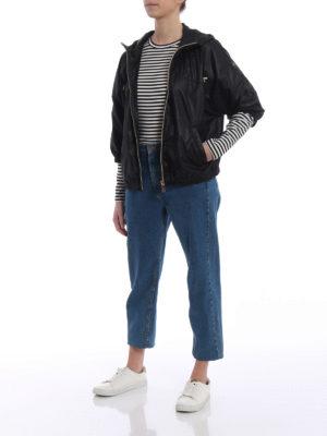 Fay: casual jackets online - Kimono sleeve black windbreaker