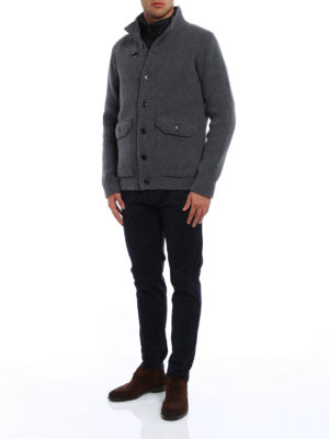 Fay: casual jackets online - Knitted wool jacket with inner vest