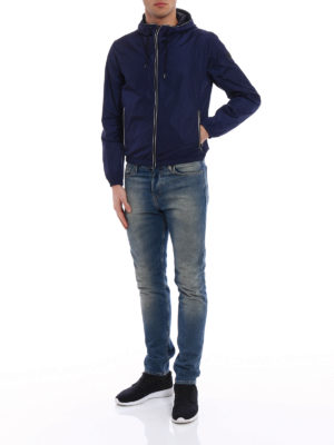 Fay: casual jackets online - Light water resistant blue jacket