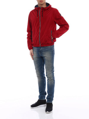 Fay: casual jackets online - Light water resistant red jacket